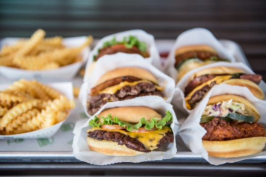 Shake Shack burgers, fries and chicken sandwiches