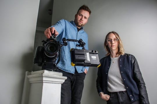 Naomi Burton, 29 and Nick Hayes, 22, both of Detroit are the founders of Means TV, an anti-capitalist, on-demand digital streaming platform that plans to launch later in the year. Burton and Hayes are photographed at their home on the eastside of Detroit on Tuesday, April 9, 2019.