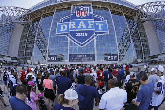 Free Press sports writer Dave Birkett reflects his crystal ball to predict who will choose Detroit Lions at No. 8 picks in the 2019 NFL draft: