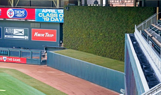 The new grass wall at Target Field that was unveiled in late March might be covered in snow from the winter storm set to hit the Minneapolis area in the next couple of days.