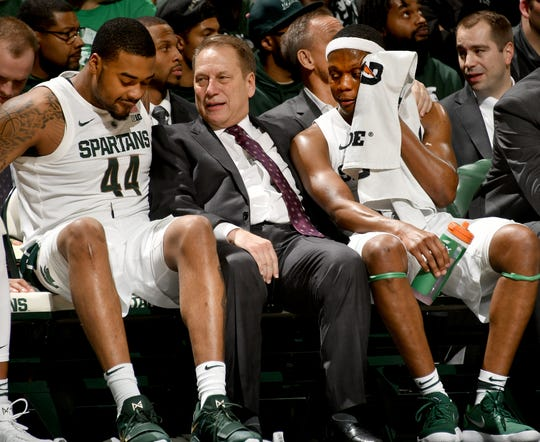 Michigan State coach Tom Izzo says that Nick Ward, left, and Cassius Winston will both make great decisions on their futures,  whatever those might be.
