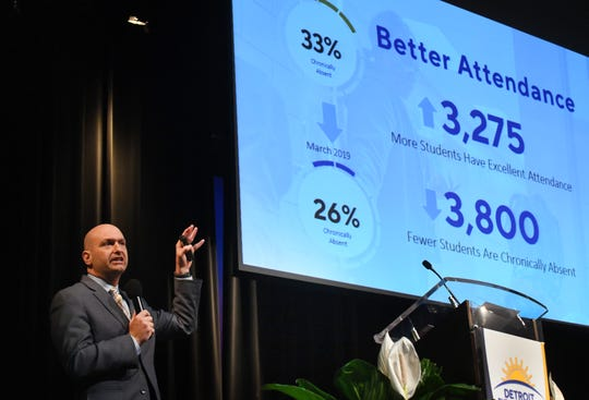 """After a year of analyzing inadequate systems and processes, and implementing new ones, we are beginning to show the signs of improvement,"" Vitti said Wednesday night."