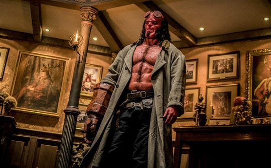 "David Harbour in ""Hellboy."""
