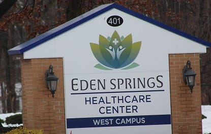 Eden Springs is being sued in a wrongful death case involving a man who had a fatal stroke in March 2017.