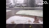 From wet to frozen, watch snow fall in Fort Collins during April's Bomb Cyclone 2.0.