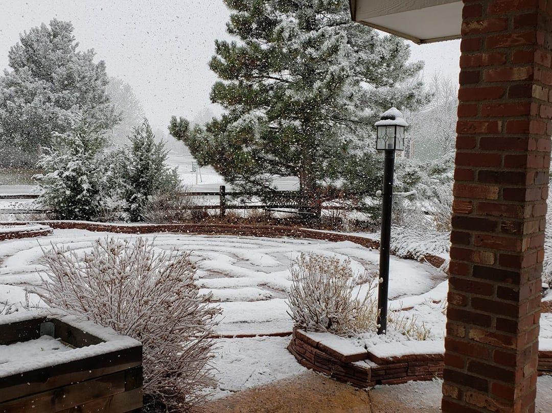 In Campion, Colorado: Scenes from the Northern Colorado snowstorm on April 10, 2019.