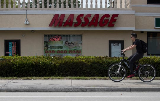 This massage business photographed on Monday afternoon, April 8, 2019, is located at 10565 Tamiami Trail North Suite #3. It was one of the spas raided in 2017 by the Florida Department of Law Enforcement on charges including racketeering activity and money laundering. The spa remains open.