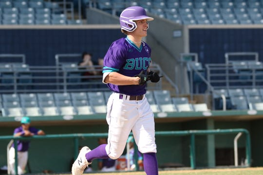 Gulf Coast graduate Drake Dobyanski has sparked the Florida SouthWestern State College offense from the leadoff spot in the batting order. Dobyanski leads the team in on-base percentage and stolen bases, helping FSW to a 29-10 start and national top 10 ranking.