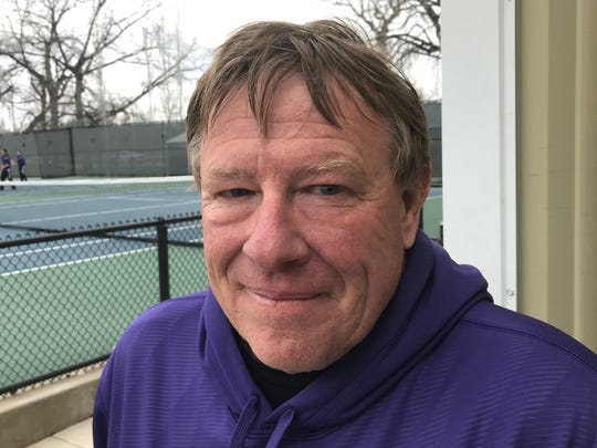 Cut Bank assistant tennis coach Paul Schilling is also an assistant football coach at Shelby.
