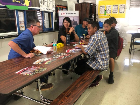 """JP Torres Success Academy students at the JP Torres Success Academy's 2019 Job Fair, """"Access Your Career Pathway,"""" held April 10 at the school."""