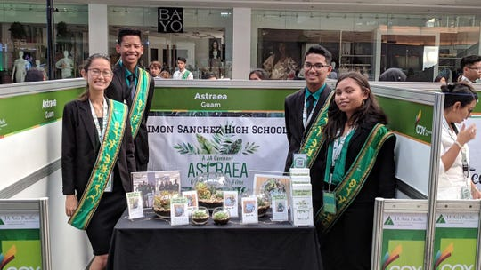 Junior Achievement Team Astrea poses for a picture at the JA Trade Fair in the Philippines.