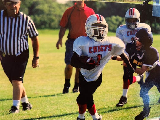 A young Bryant Fitzgerald playing in the Indy Parks Kids league.