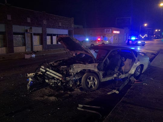 An Indianapolis police officer was hurt in a crash with a suspected drunken driver  at East 10th and North Tuxedo streets, police said.