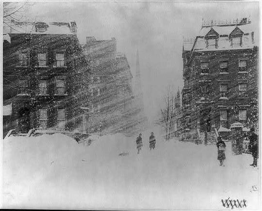 The Great Blizzard of 1888 hit coastal cities, including New York, the hardest.
