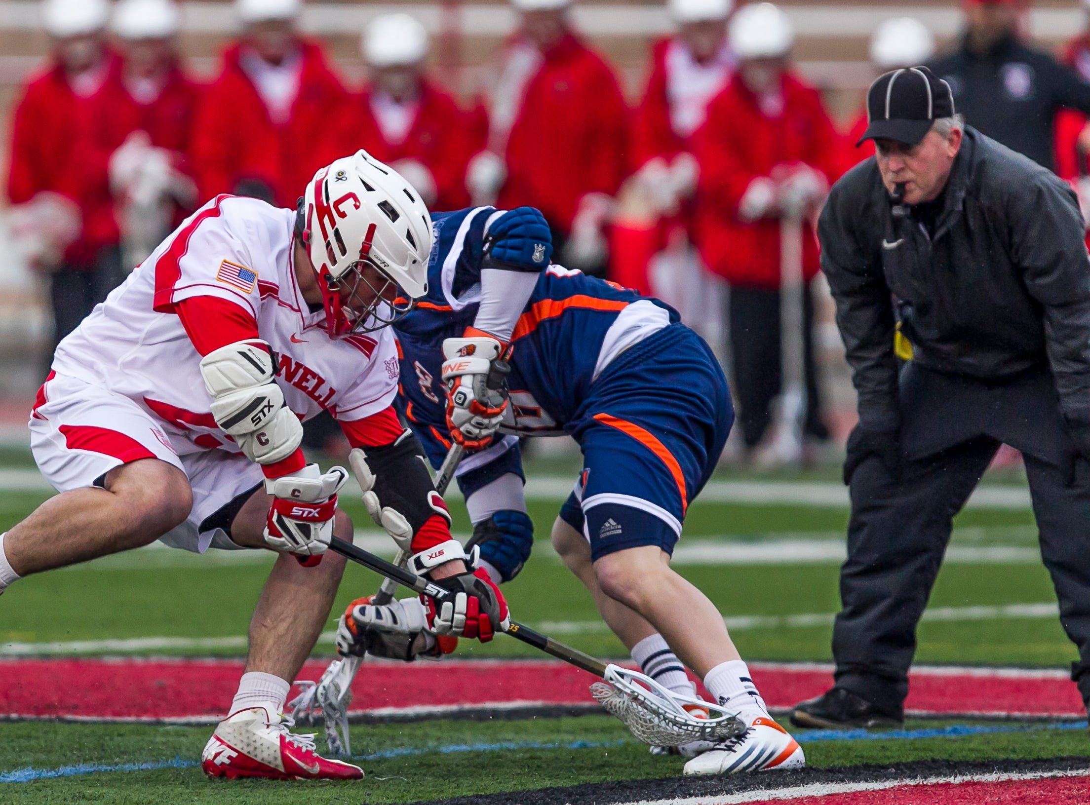 2013: Cornell vs Bucknell in college mens lacrosse Tuesday afternoon.