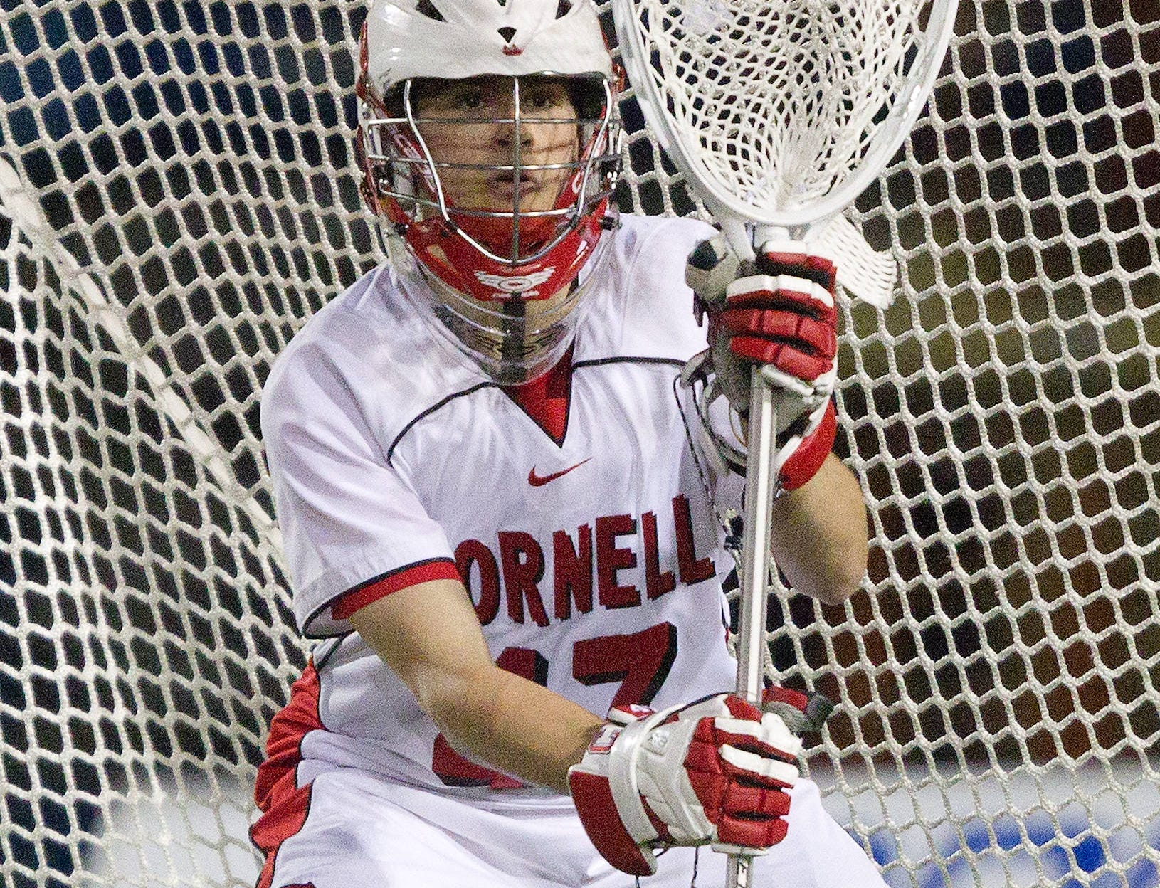 2010: Cornell's A.J. Fiore defends his goal during Cornell's  game against Syracuse in April.