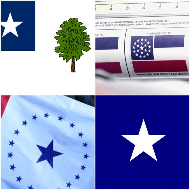 Some past alternatives to Mississippi's current state flag.