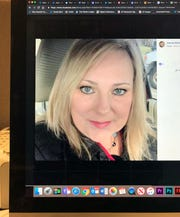 This photo of a computer screen shows Jeanine Blankenship in a Facebook post.