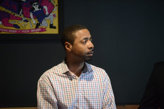 Jerome Cephus III during a Republican Jackson City Council Forum at Rock N' Dough on April 8 in Jackson, Tenn.