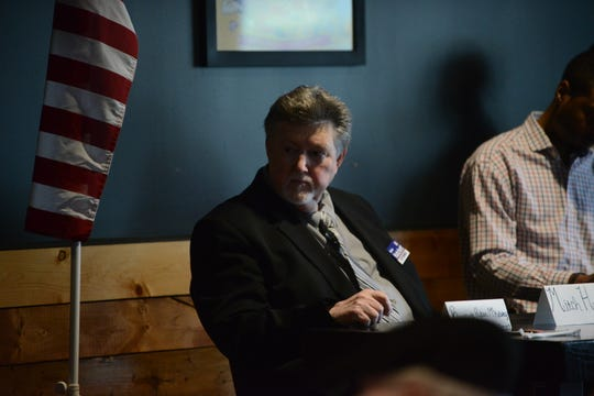 Mitch Hatchett during a Republican Jackson City Council Forum at Rock N' Dough on April 8 in Jackson, Tenn.