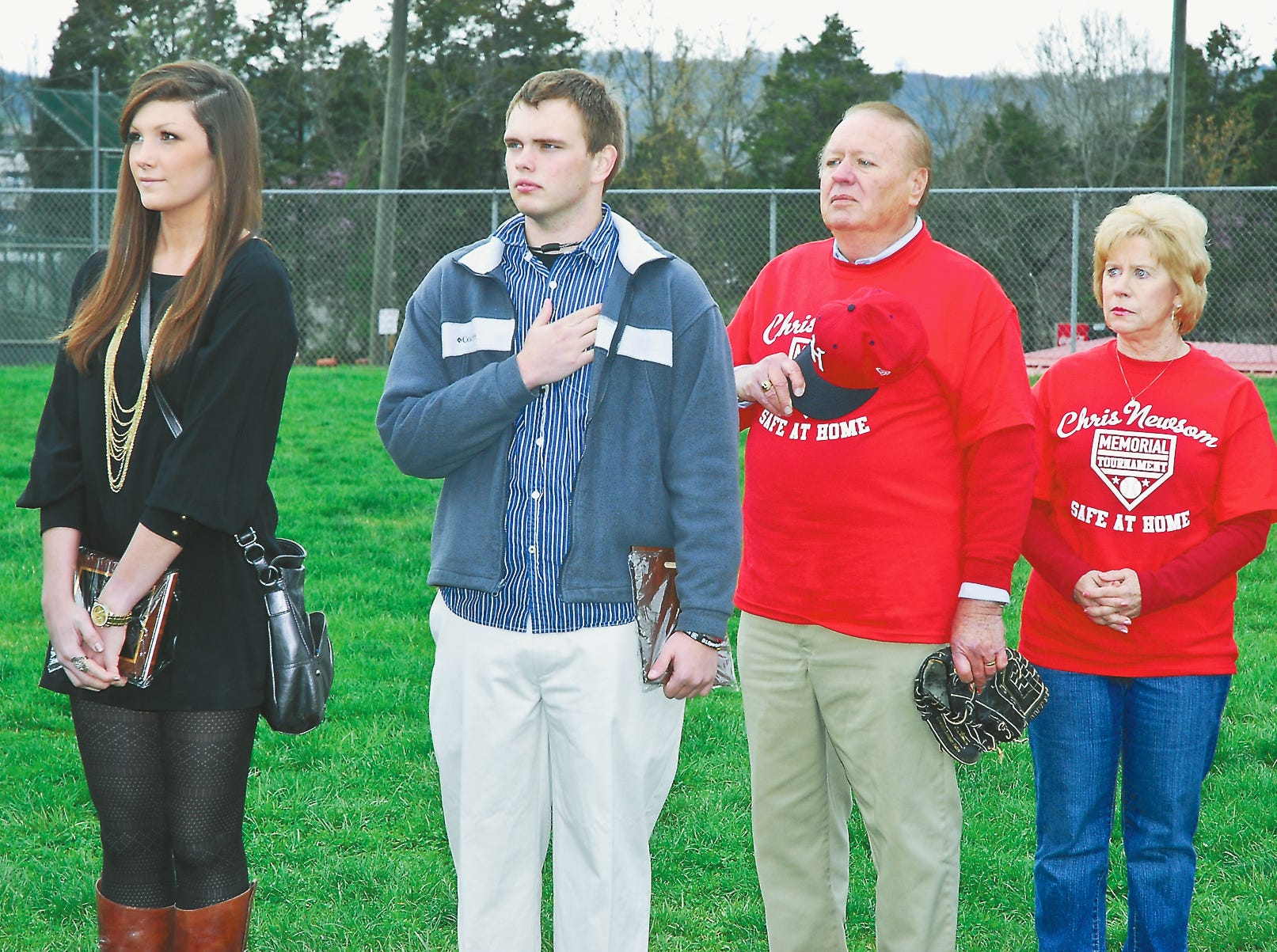 Halls High seniors Courtney White and Daryl Sumlin Jr. were awarded the 2011 Chris Newsom Memorial Tournament scholarship from Hugh and Mary Newsom.