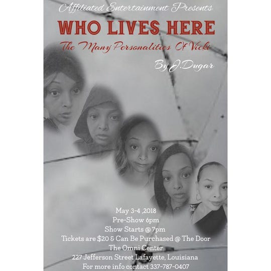 """Who Lives Here: The Many Personalities of Vicki"" is a one-woman stage play heading to The Omni Center May 3-4"