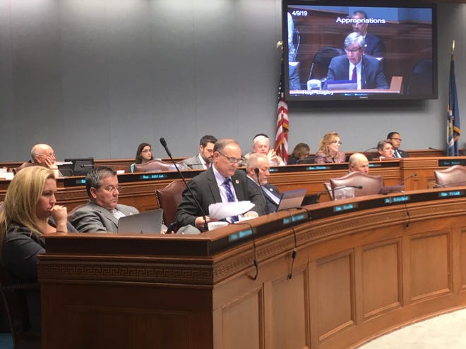 Rep. Tony Bacala, R-Prairieville, questions the Louisiana Department of Health officials during Tuesday's House Appropriations Committee meeting.