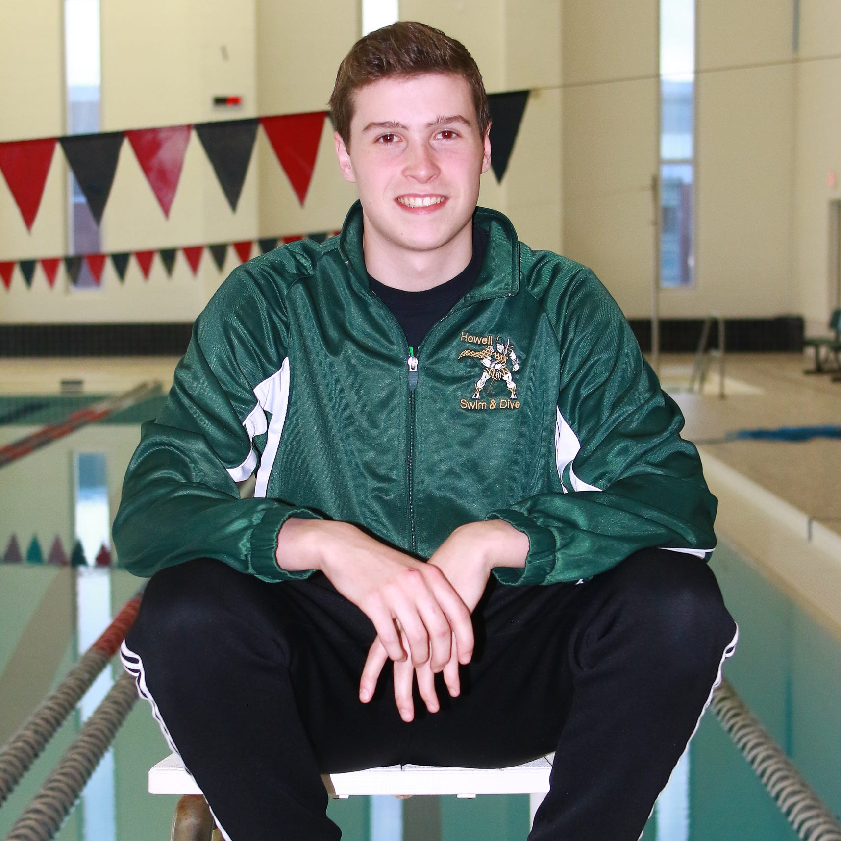 Howell state champ Hunter Gubeno is county's Swimmer of the Year