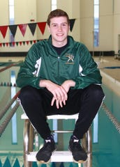 Howell's Hunter Gubeno won two events at the state Division 1 swimming and diving meet.
