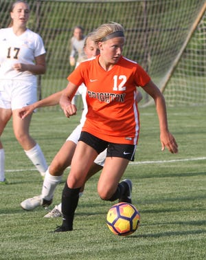 Brooke Pietila scored one of Brighton's goals in a 2-2 soccer tie with Howell.
