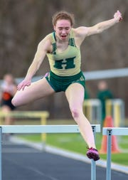 Junior Emily Endebrock took first place in her first 300-meter hurdles race with Howell's fastest time in eight years.
