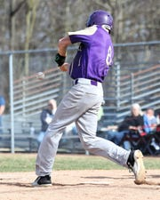 Fowlerville's Bryson Scott was 2-for-3 and got the victory in the first game against Corunna.