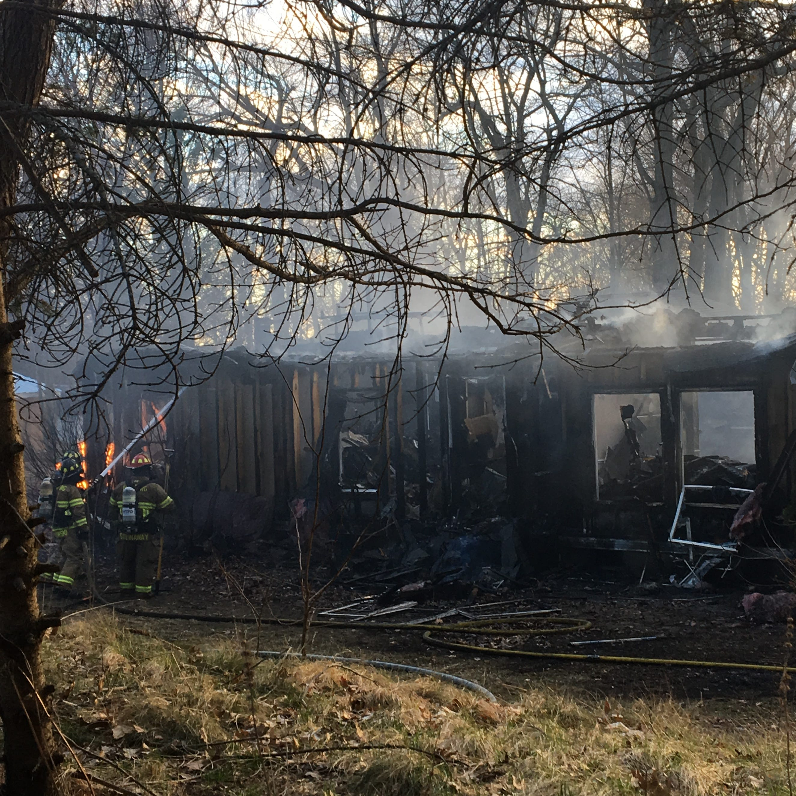 Fire destroys Hamburg Township home