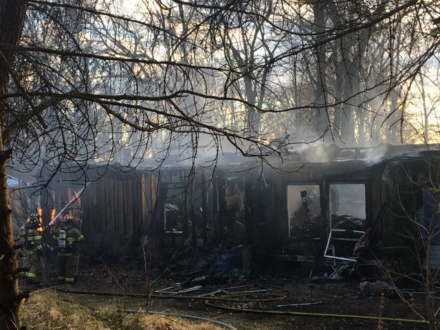 Leaf burning led to fire that destroyed Hamburg Township home