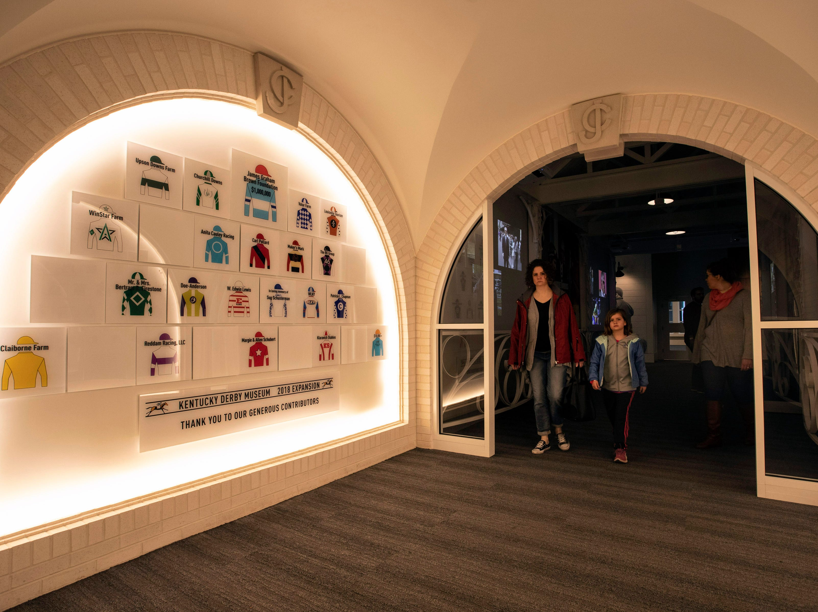 The Kentucky Derby Museum has undergone some renovations to include entry ways that reflect past architectural designs at Churchill Downs. 3/26/19