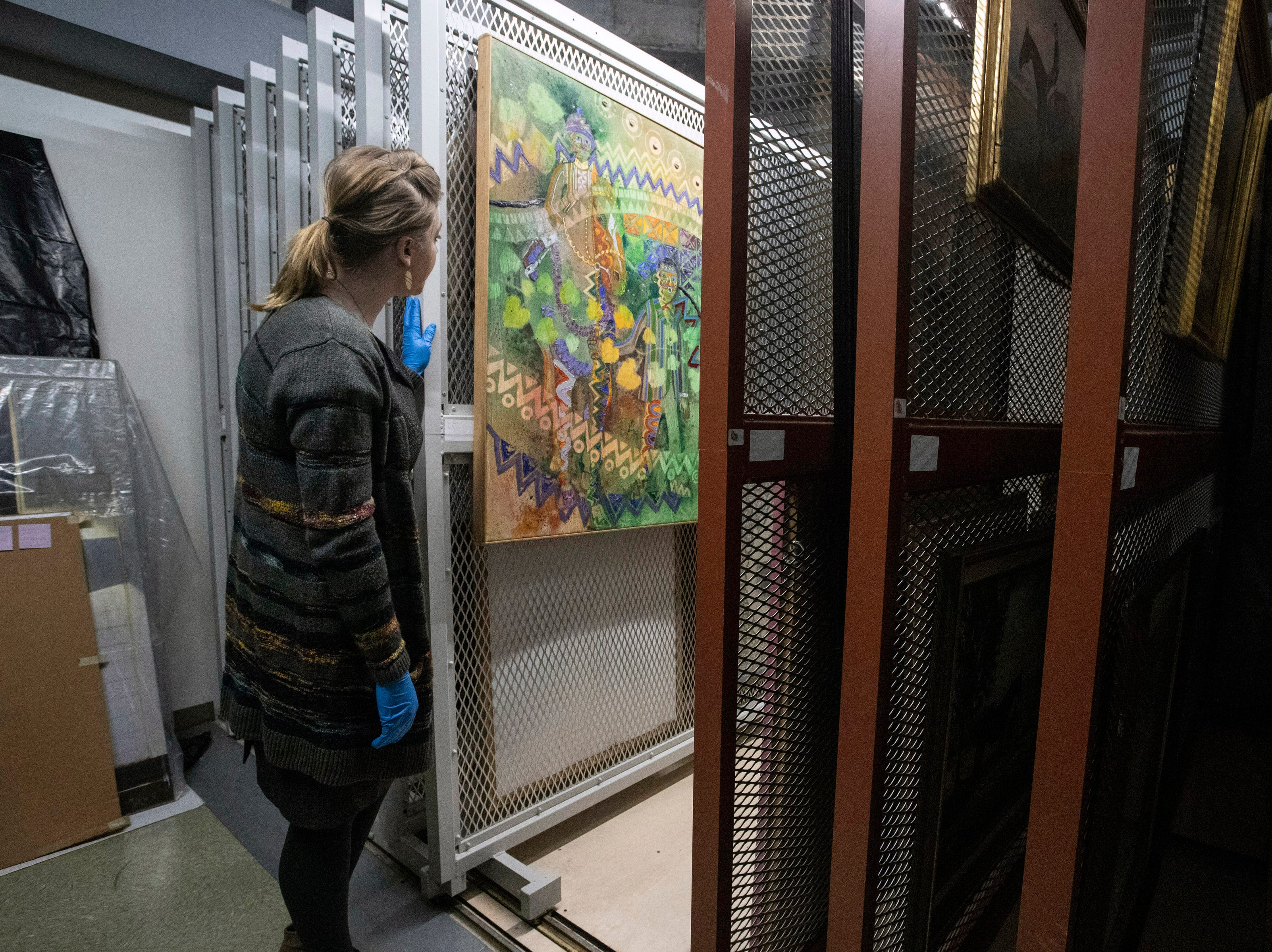 A vast collection of Derby themed artwork is cataloged and archived at the Kentucky Derby Museum. 3/26/19