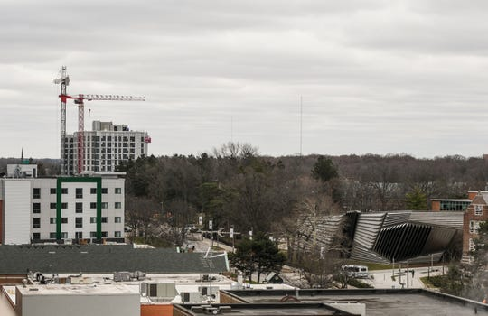 The skyline in downtown East Lansing is changing with the addition of high rise condos and apartments.