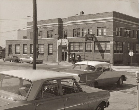 Herald Times office, located at 902 Franklin St., in Manitowoc in 1968.