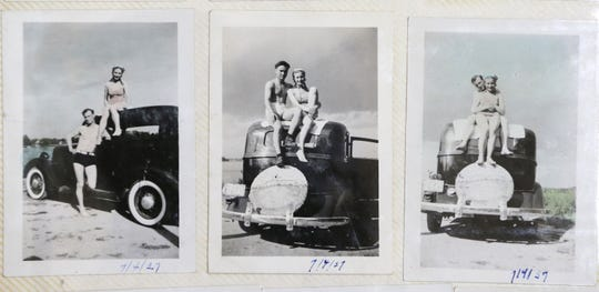 Photos from a scrapbook of Dorothy Hein and her late husband, Francis, from the summer of 1937.