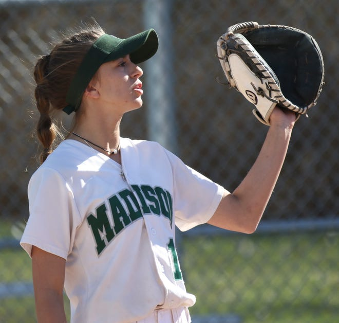 Madison's Leah Boggs is the new career home run leader at Madison High School with 10.