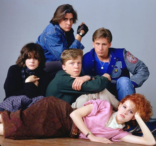 """It's detention time at the drive-in when """"The Breakfast Club"""" screens Saturday at the Summer Quartet."""