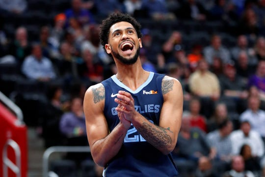Guard Tyler Dorsey hit 36.6% of his 3-pointers in 21 games for the Grizzlies last season.