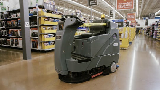 Walmart is introducing Auto Cleaner floor-cleaning robots.