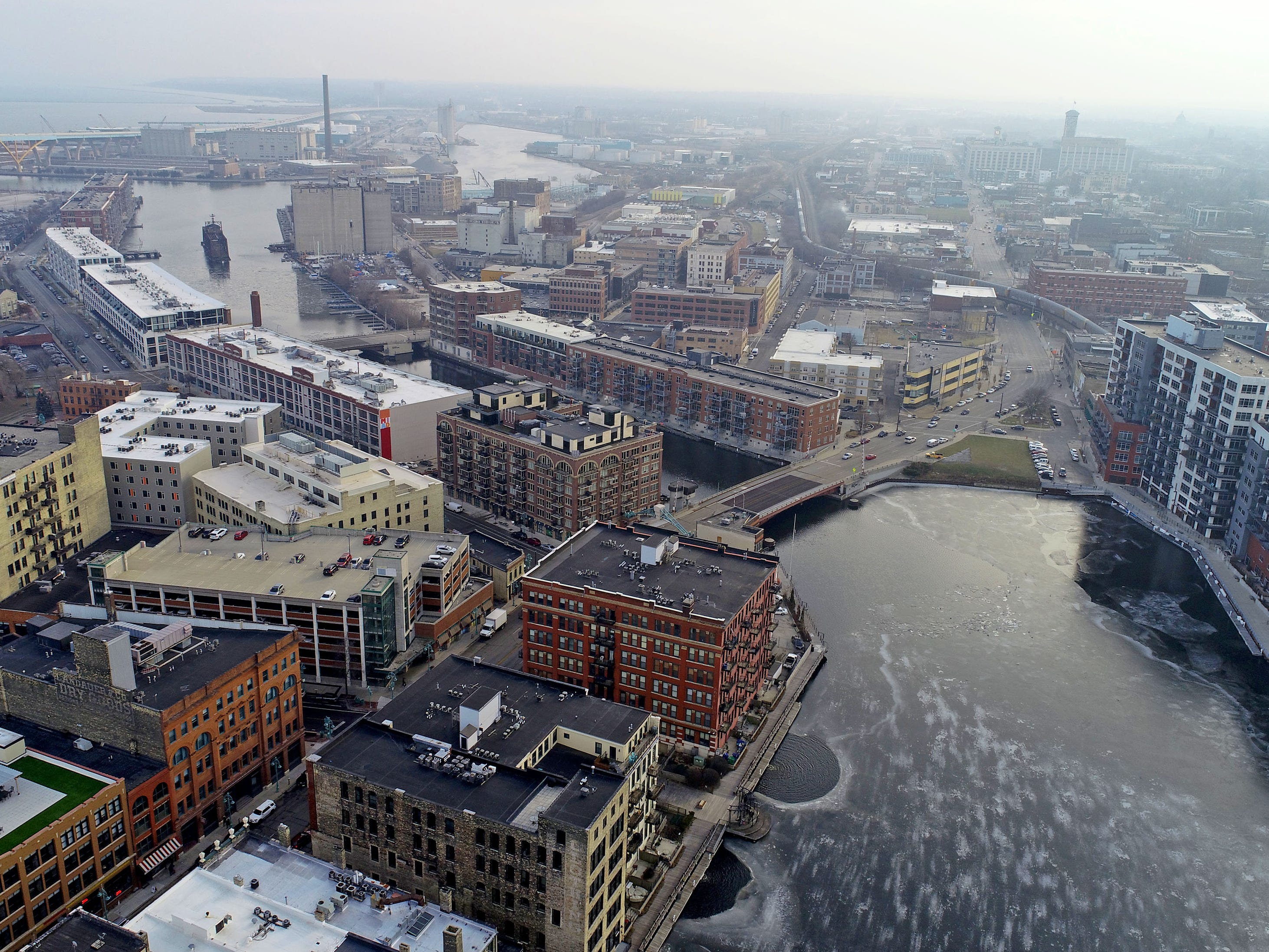 The Historic Third Ward and the Milwaukee River
