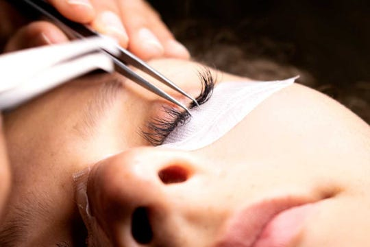 General manager Monica Alvarez said the technician separates each natural eyelash and applies the extension right to it.