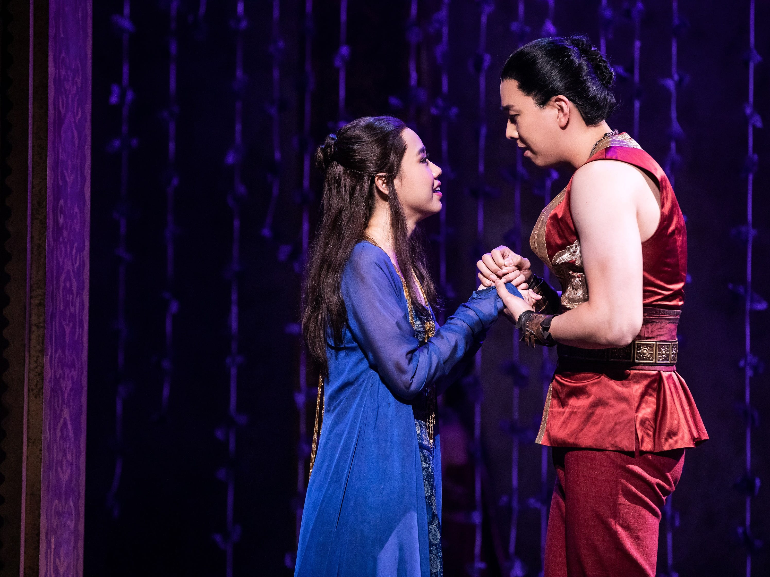 "Paulina Yeung and Dongwoo Kang perform in the musical ""The King and I."""