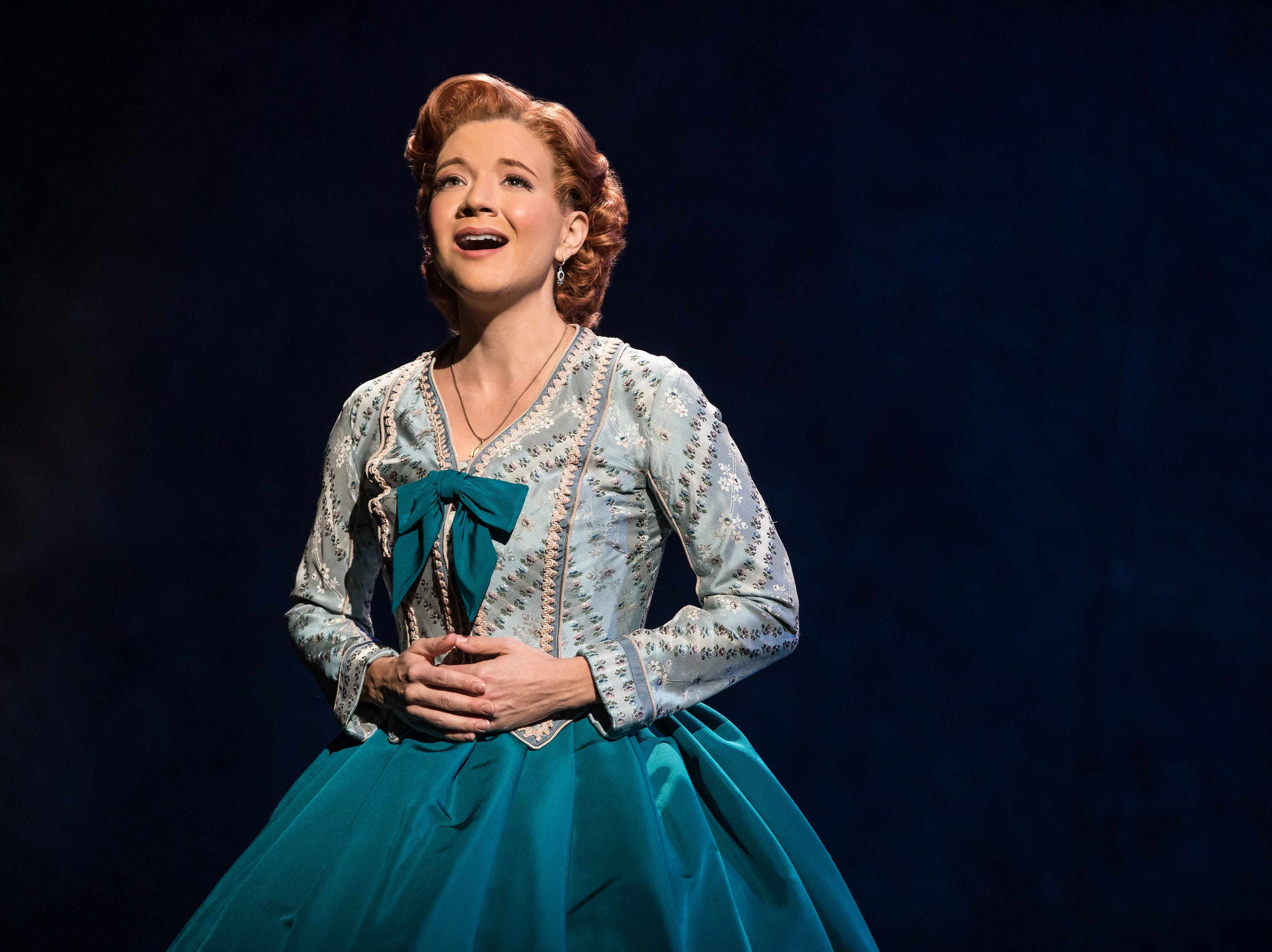 "Angela Baumgardner sings in ""The King and I."""