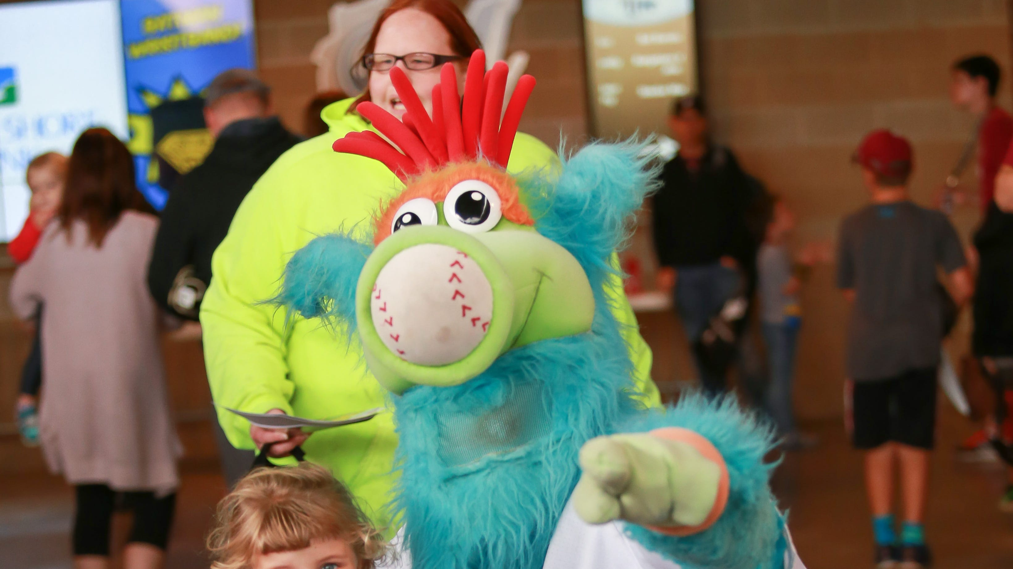 Whiffer is one of the Timber Rattlers' mascots,...