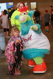 Whiffer is one of the Timber Rattlers' mascots, and one of kids' favorite parts of the games.