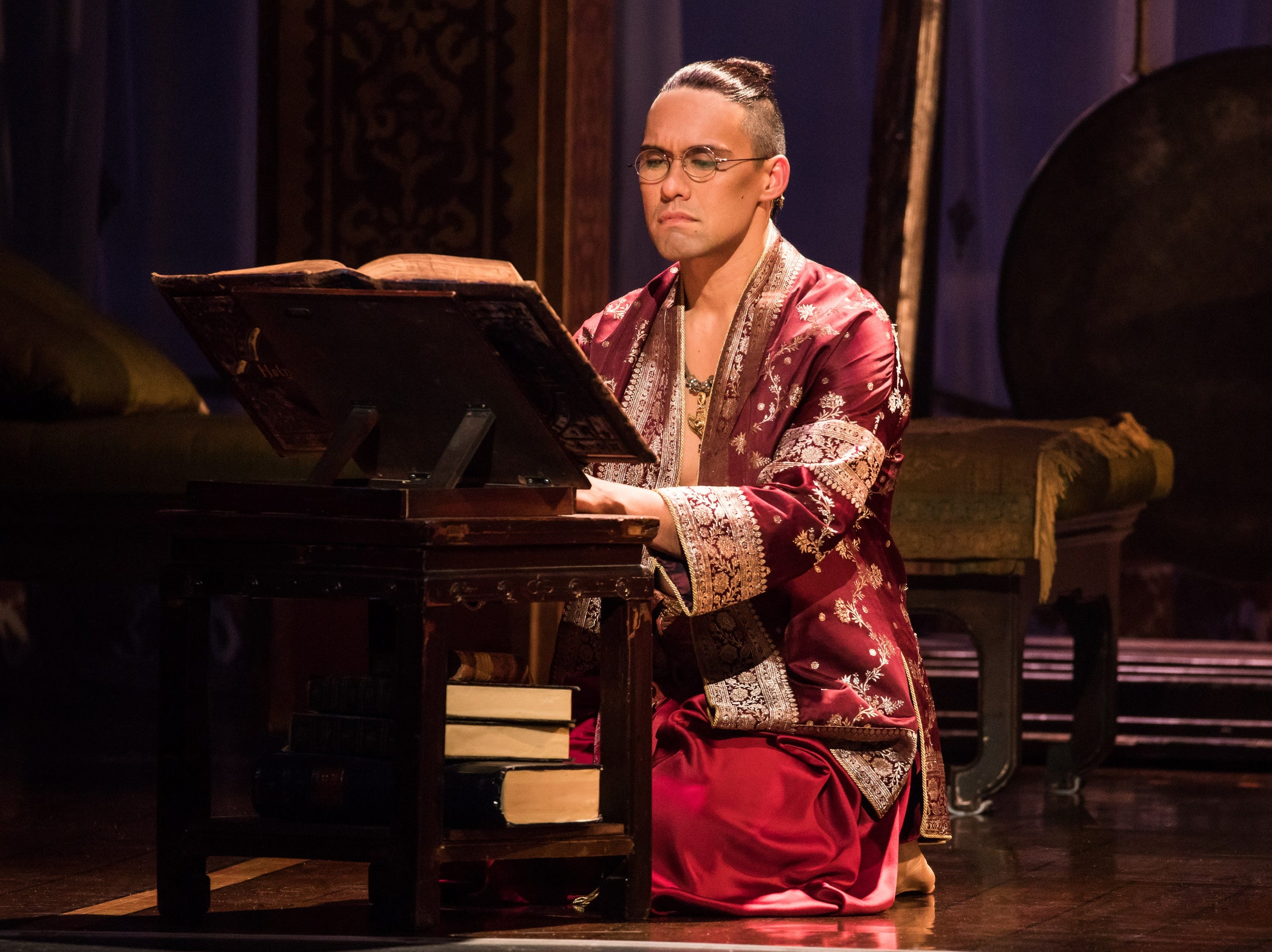 "Pedro Ka'awaloa plays the monarch in the musical ""The King and I."""